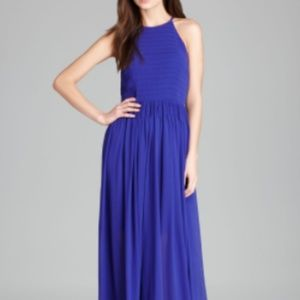 NWOT French Connection Blue Chiffon Halter Maxi